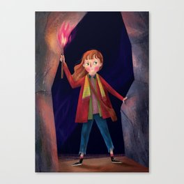 a girl with the power Canvas Print