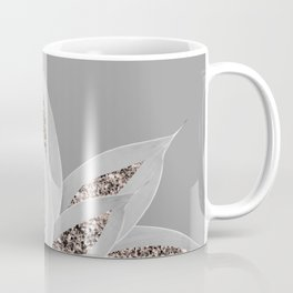 Gray Agave with Rose Gold Glitter #1 #shiny #tropical #decor #art #society6 Kaffeebecher