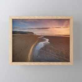 Stream leading to the ocean Framed Mini Art Print