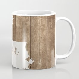 Louisiana is Home - White on Wood Coffee Mug