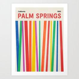 Palm Springs 1930: Retro Mid-Century Edition  Art Print