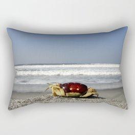 Crab On The Beach Rectangular Pillow