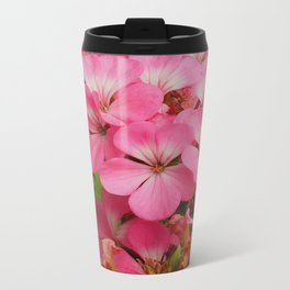 Pink Geranuims Travel Mug