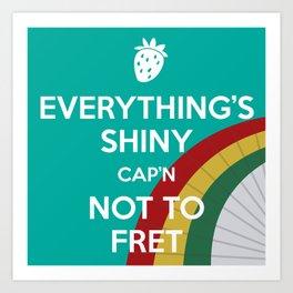 Everything's Shiny Cap'n! (Parasol) - Kaylee Art Print