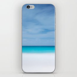 Tropical paradise beach turquoise sea ocean nature travel hipster Caribbean Fiji horizon photograph iPhone Skin
