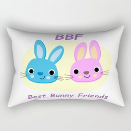 BBF Best Bunny Friends Rectangular Pillow