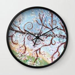Watercolor Moonlight Illustration Wall Clock