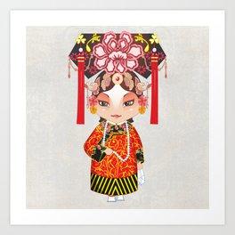 Beijing Opera Character TieJing Princess Art Print