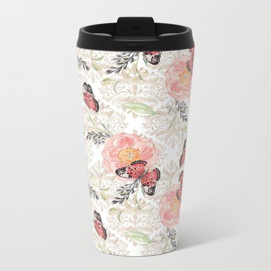 Flowers & butterflies #2 Metal Travel Mug