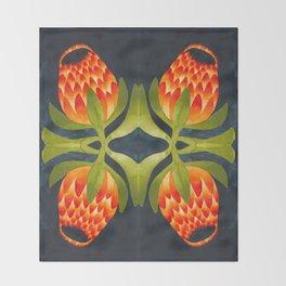 Floral symmetry 1. Throw Blanket