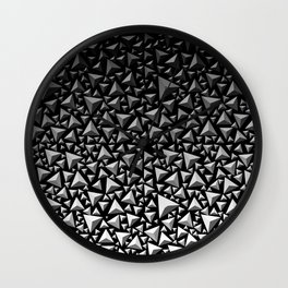Spiky Triangles 2 Wall Clock