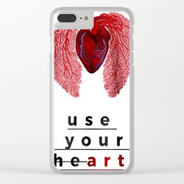 use your he(art) Clear iPhone Case