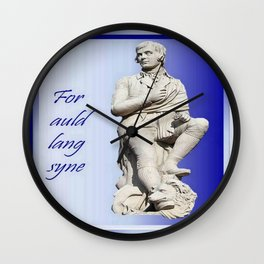 For Auld Lang Syne Wall Clock