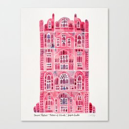 Hawa Mahal – Pink Palace of Jaipur, India Canvas Print
