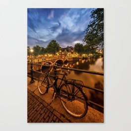 AMSTERDAM Evening impression from Brouwersgracht Canvas Print