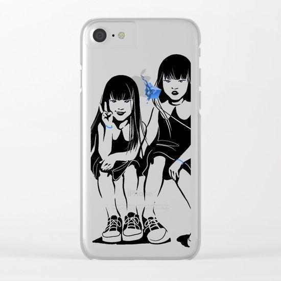 Anomalia Twins Clear iPhone Case