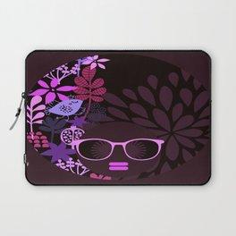 Afro Diva Magenta Lavender Eggplant Laptop Sleeve