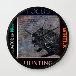 Focus While Hunting  Wall Clock
