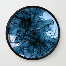 Brushing in Blue Wall Clock