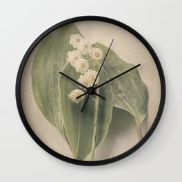 Scents of Spring - Lily of the Valley iv Wall Clock