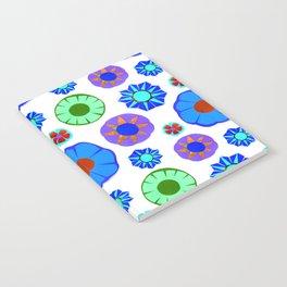Flower Pattern-Blue Notebook