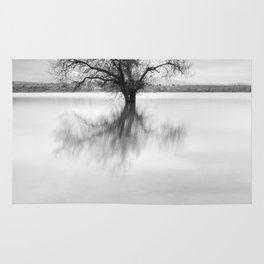 """""""Roots and trees..."""" BW Rug"""