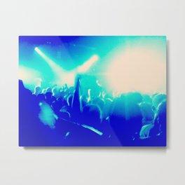 Blue Lights on People Metal Print