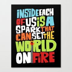 a spark inside Canvas Print