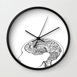 Inside my Head Wall Clock
