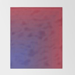 Abstract Rectangle Games - Gradient Pattern between Dark Blue and Moderate Red Throw Blanket