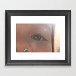 The eyes of girls Framed Art Print
