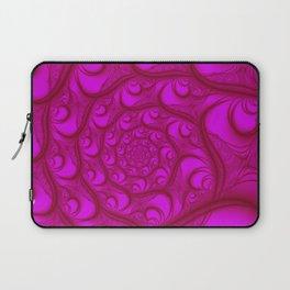 Fractal Web Red on Pink Laptop Sleeve