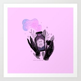 """""""Love is Love Potion"""" inspired by The L Word Art Print"""