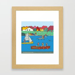 Canoeing Summer Camp Framed Art Print