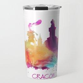 Cracow Poland skyline Travel Mug
