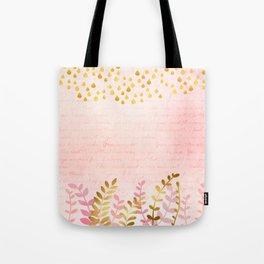Orchid pink - golden rainforest Tote Bag