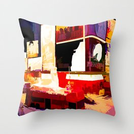 Times Square II (abstract colour print) Throw Pillow