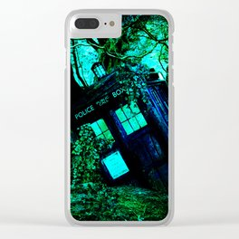 during this tardis Clear iPhone Case