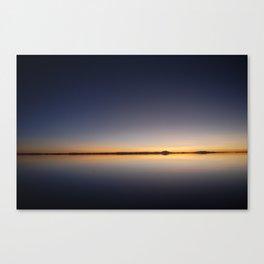 Sunrise Salar de Uyuni 1 - Bolivia - Landscape and Rural Art Photography Canvas Print