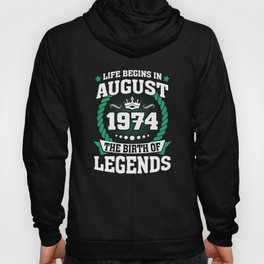 August 1974 The Birth Of Legends Hoody