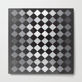 Argyle Pattern- Smaller Diamonds Metal Print