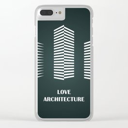i love architecture Clear iPhone Case