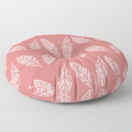 Tropical foliage Flamingo Pink #tropical #leaves #homedecor Floor Pillow