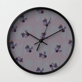 Oxalis & Fern Pattern Wall Clock