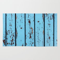 Blue Wooden Planks Rug
