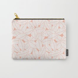 Leaves in Creamsicle Carry-All Pouch