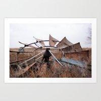 Oklahoma Wagon Wheel Art Print