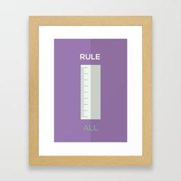 RULE ALL Framed Art Print