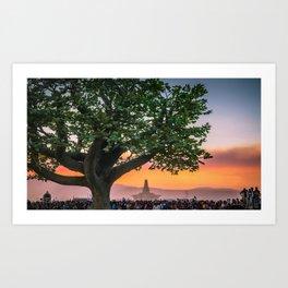 Tree of Ténéré with Temple Art Print