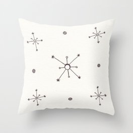 Inspired by the Atomic Age Throw Pillow